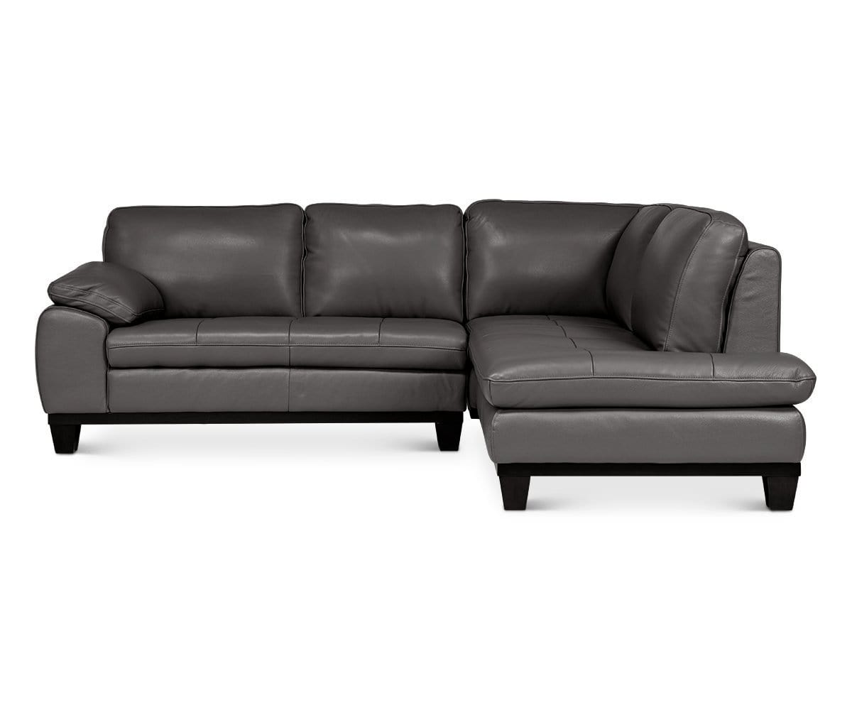 Selago Leather Right Sectional