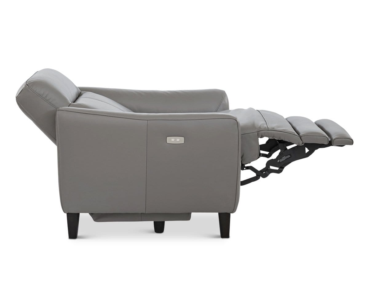 Regine Leather Power Recliner Dark Grey MS-5655 - Scandinavian Designs