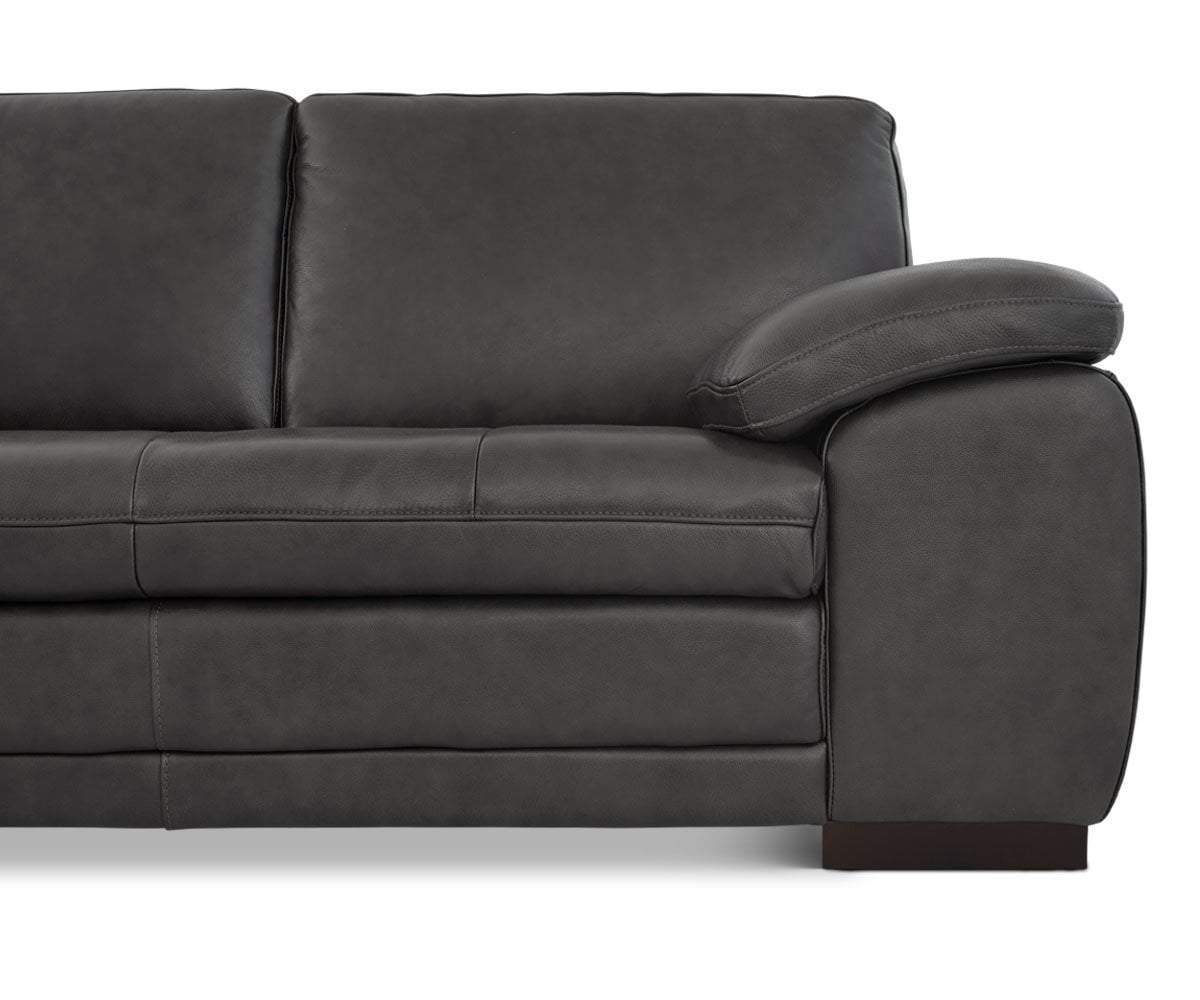 Cercis Leather Left Sectional - Scandinavian Designs