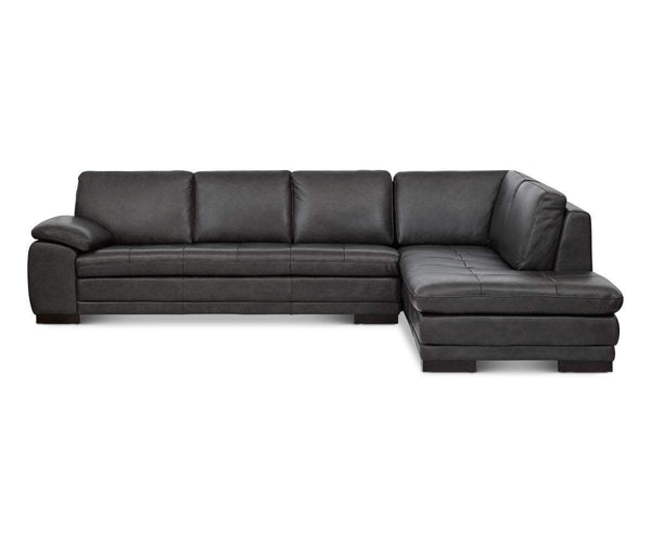 Terrific Cercis Leather Right Sectional Pdpeps Interior Chair Design Pdpepsorg