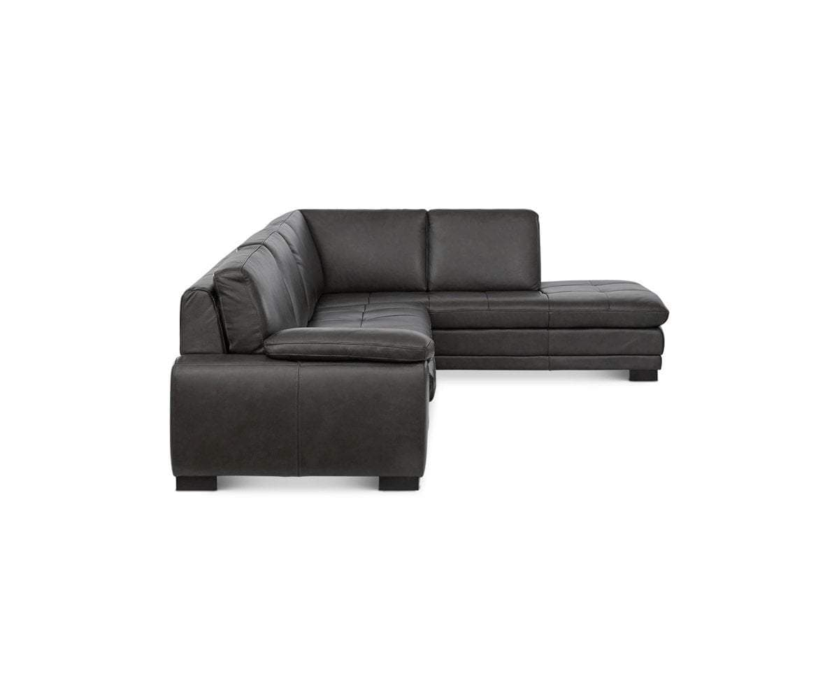 Cercis Leather Right Sectional - Scandinavian Designs