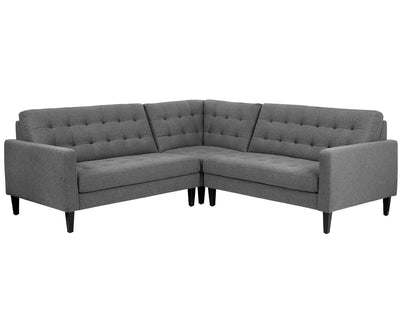 Laura Corner Sectional GREY B-641 - Scandinavian Designs