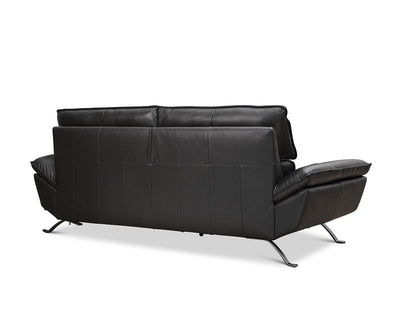 Rolf Leather Sofa BLACK MS-5657 - Scandinavian Designs