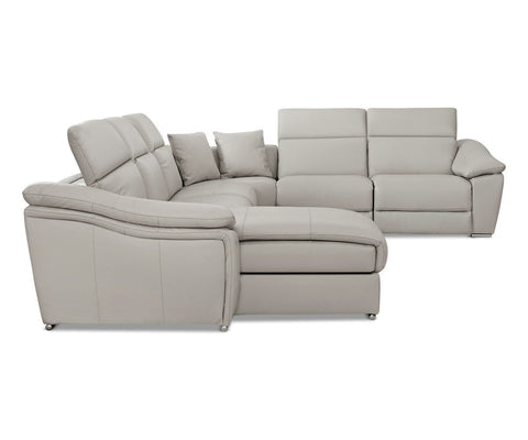 Maxino Power Motion Left Sectional - Silver - Scandinavian Designs
