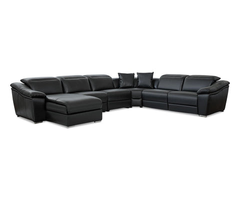 Maxino Power Motion Left Sectional - Black