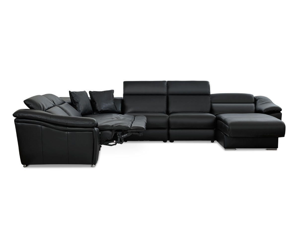 Maxino Power Motion Right Sectional - Black - Scandinavian Designs