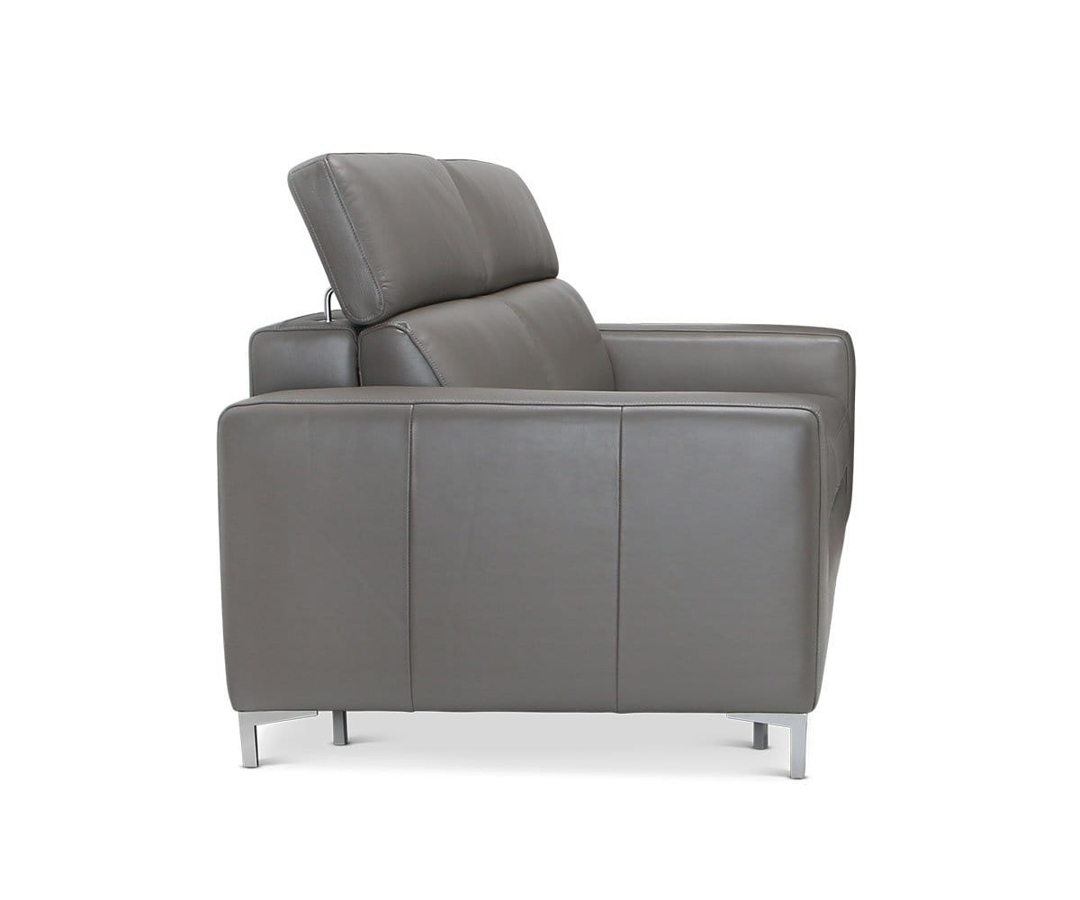 Andrew Leather Queen Sleeper - Grey Dark Grey MS-5655 - Scandinavian Designs