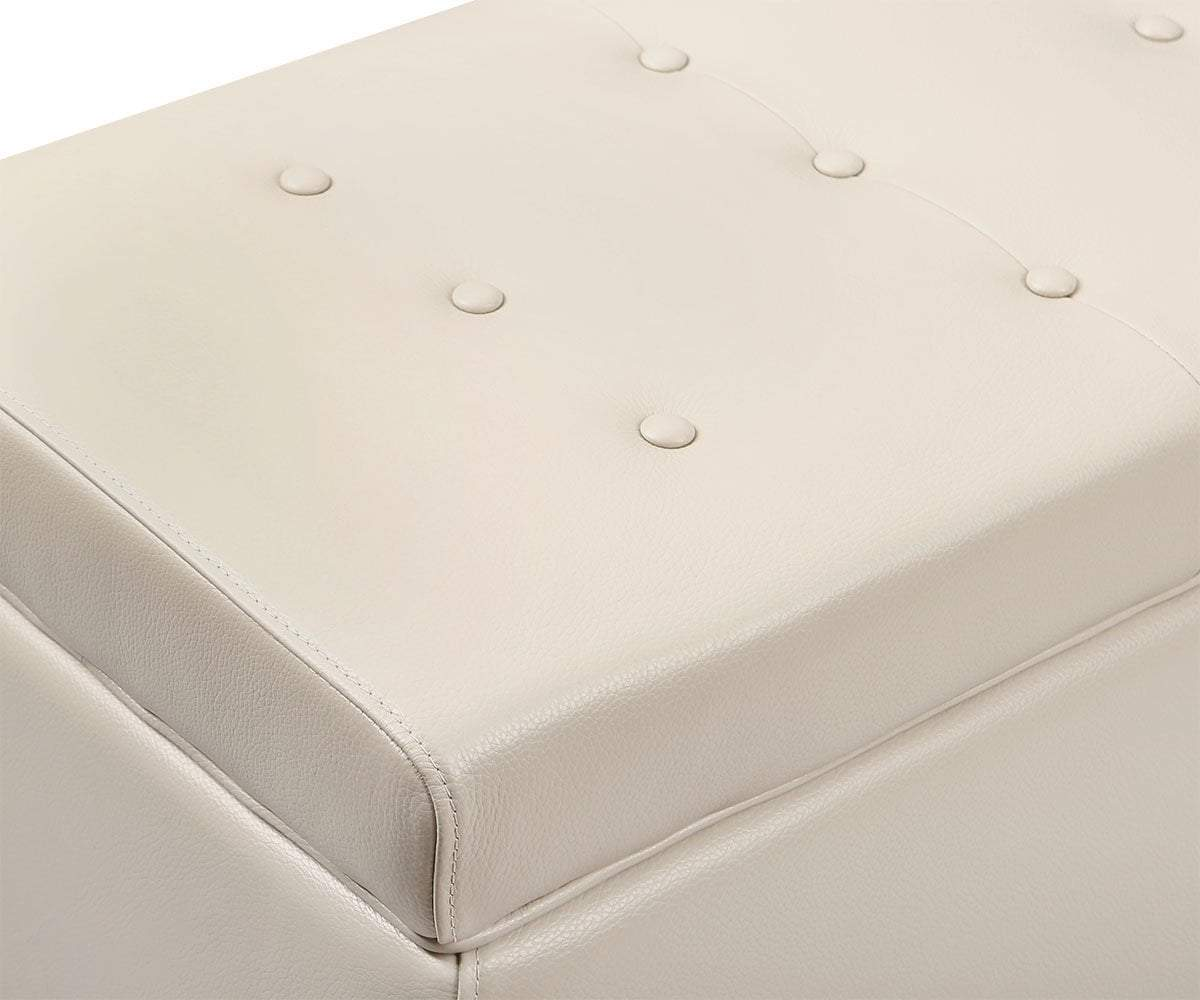 Pleasant Pauline Leather Storage Ottoman Pdpeps Interior Chair Design Pdpepsorg