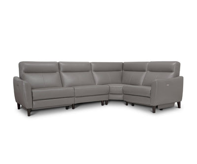 Regine Leather Power Reclining Sectional Dark Grey MS-5655 / Full Sectional - Scandinavian Designs