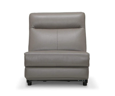 Regine Leather Power Reclining Sectional Dark Grey MS-5655 / Stationary Armless Chair - Scandinavian Designs