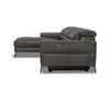 Vetali Leather Power Reclining Left Sectional Dark Grey L/S 1022 - Scandinavian Designs