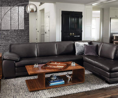 Cercis Leather Right Sectional MS-1215 - Scandinavian Designs