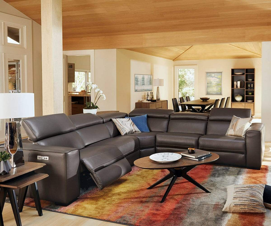 Lewen Leather Power Reclining Sectional