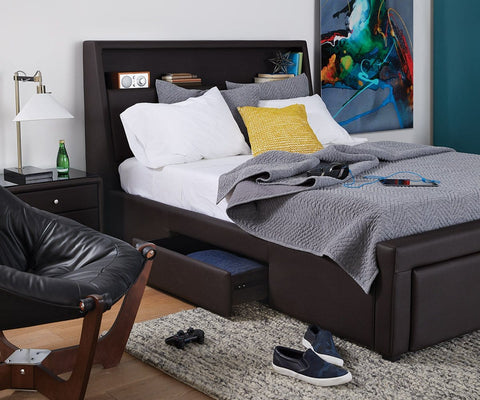 Lukko Full Storage Bed Java Brown CU004 - Scandinavian Designs