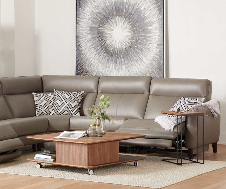 Regine Leather Power Reclining Sectional