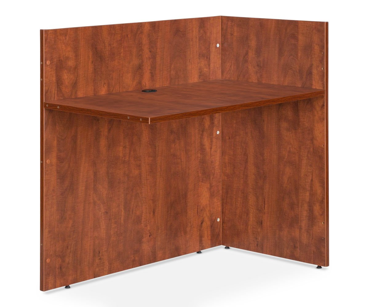 "Ritzo 42""W Reversible Reception Desk Return - Cherry - Scandinavian Designs"