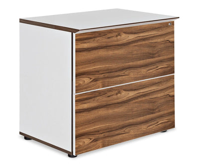 Sparsa Lateral File Cabinet White/Walnut - Scandinavian Designs