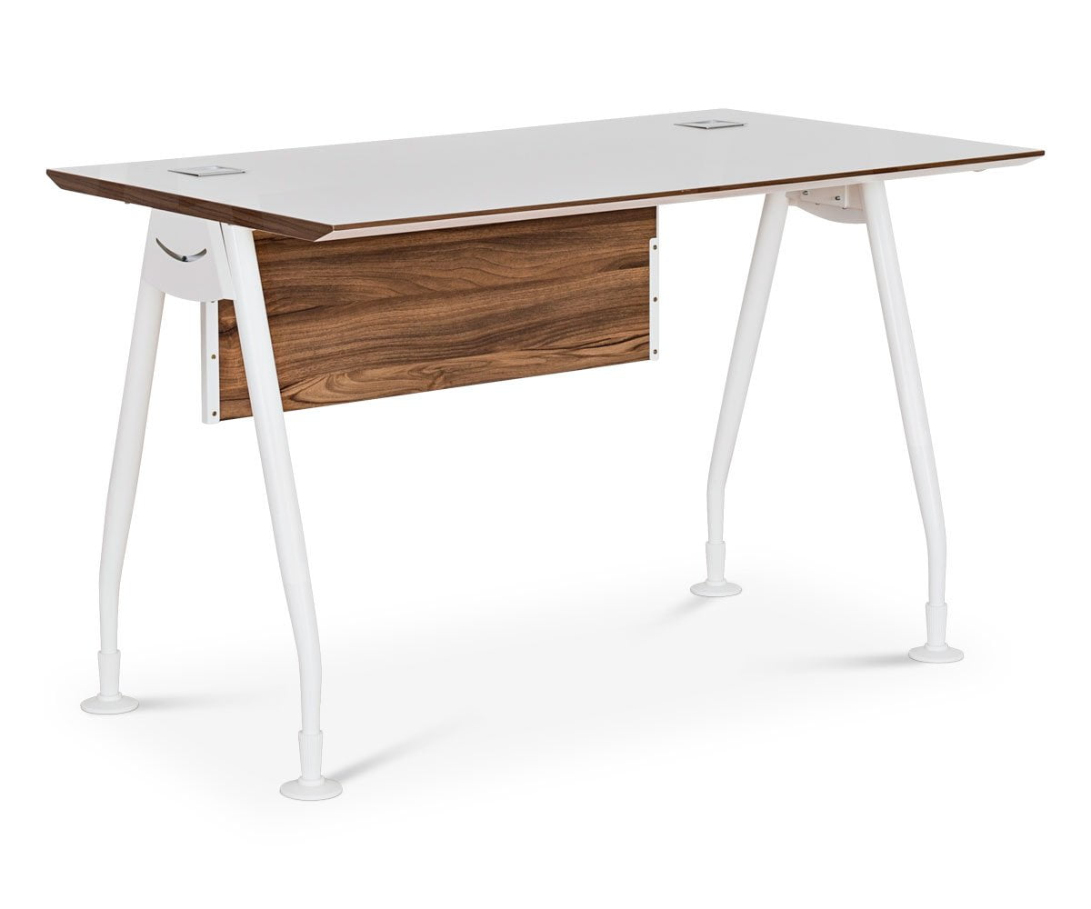 "Sparsa 47"" Desk White/Walnut - Scandinavian Designs"