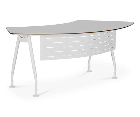 Sparsa Executive Desk White/Walnut - Scandinavian Designs
