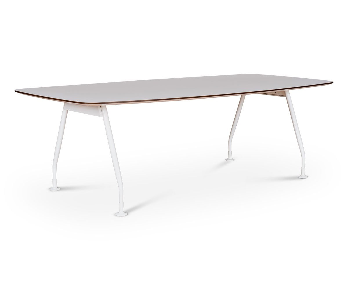 Modern nordic style white minimalist conference table