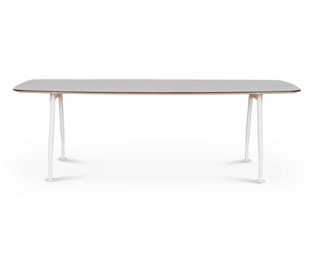 Large long white modern workspace conference table