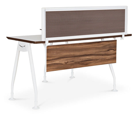 "Sparsa 52""W Desk Screen White/Walnut - Scandinavian Designs"