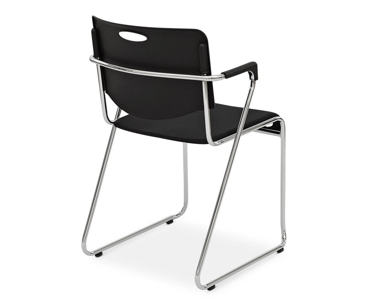 Enok Stacking Chair - Black - Scandinavian Designs