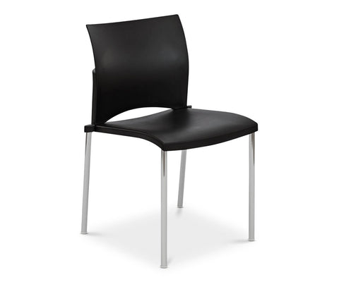 Kalle Stacking Chair - Black - Scandinavian Designs