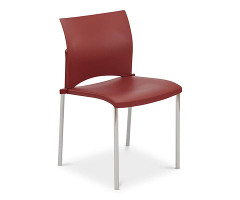 Kalle Stacking Chair - Red - Scandinavian Designs