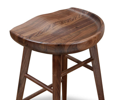 Kallan Counter Stool Walnut - Scandinavian Designs