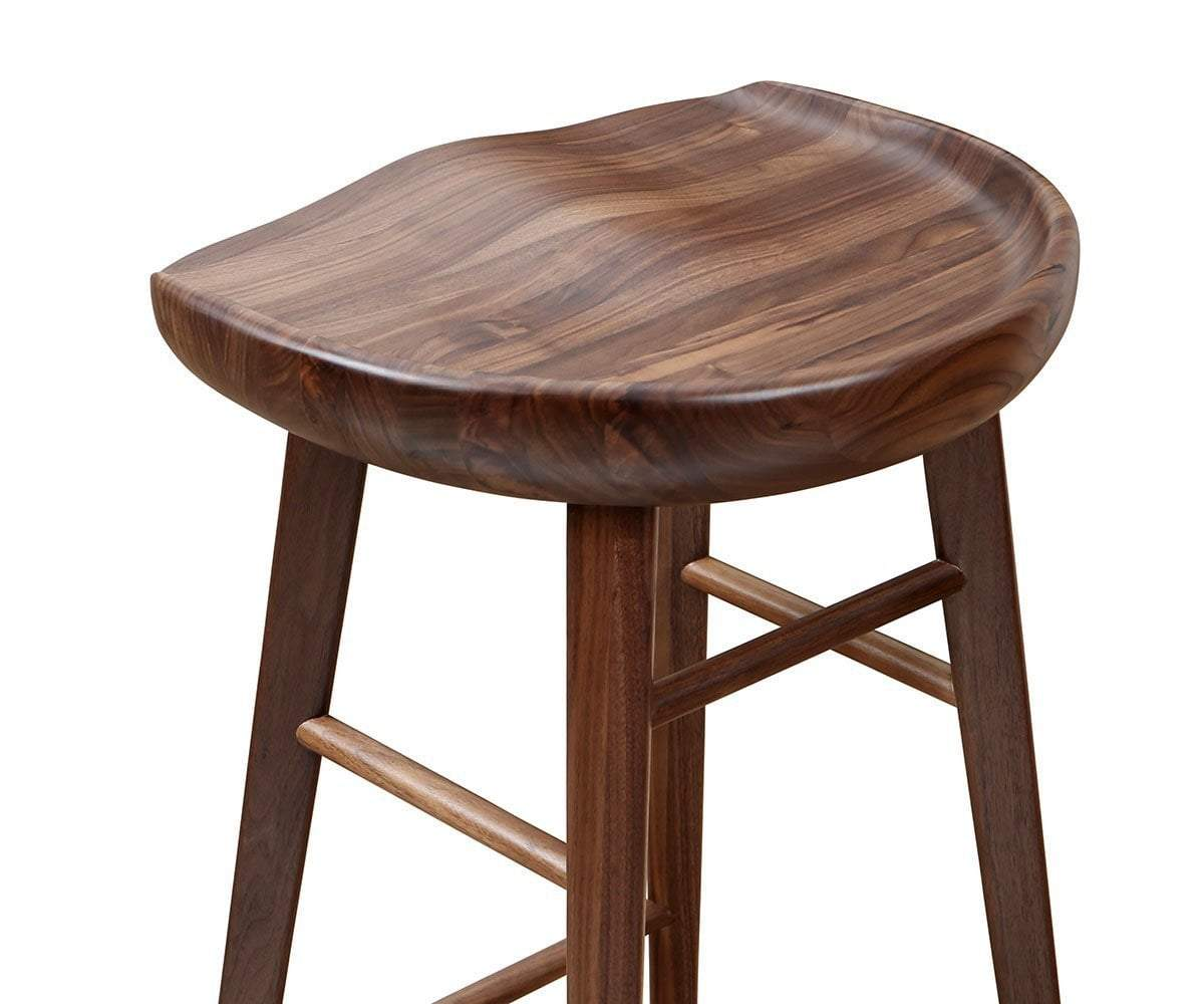 Kallan Bar Stool Walnut - Scandinavian Designs