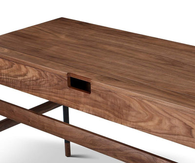 Kallan Writing Desk Walnut - Scandinavian Designs
