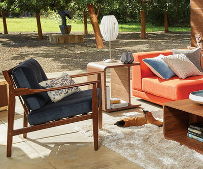 Undra Lounge Chair Rust Stax - Scandinavian Designs