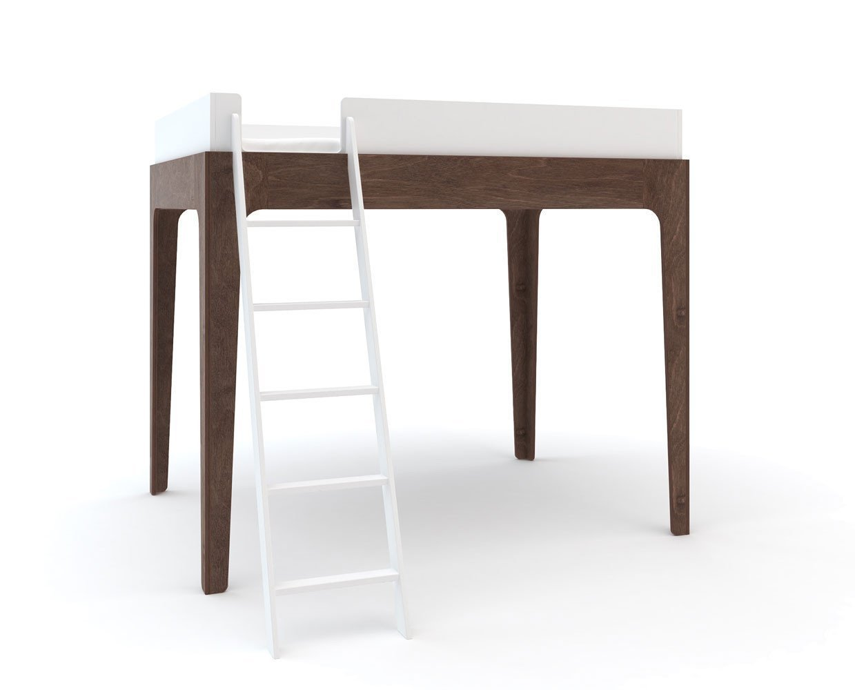 Perch Twin Loft Bed - Walnut - Scandinavian Designs