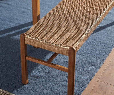 "Raholt 52"" Bench TEAK/ROPE - Scandinavian Designs"