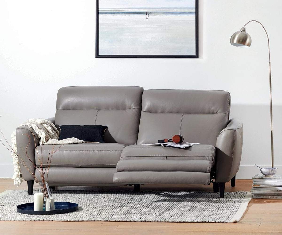 Regine Leather Power Reclining Sofa – Scandinavian Designs