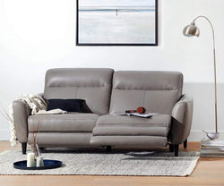 Regine Leather Power Reclining Sofa DARK GREY M/S 5655 - Scandinavian Designs