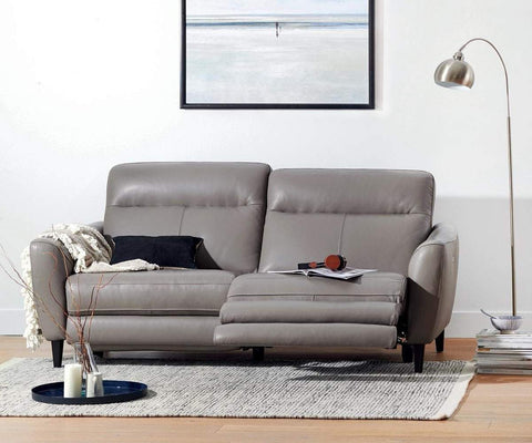 Regine Power Motion Leather Sofa   Scandinavian Designs