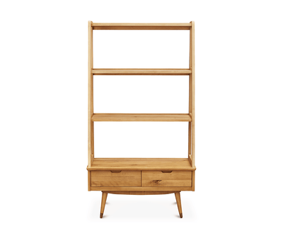 Bolig Large Leaning Bookcase NATURAL DRIFTWOOD - Scandinavian Designs