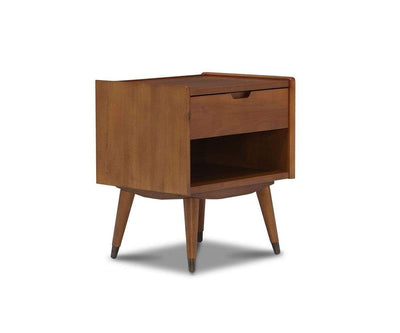 Bolig Nightstand - Light Walnut Stain Light Walnut Stain - Scandinavian Designs