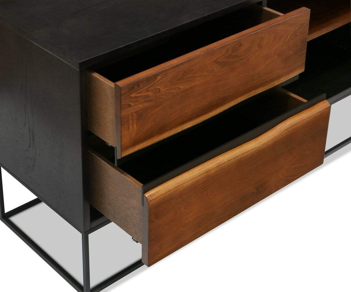 Hasse Media Stand Timber Brown - Scandinavian Designs