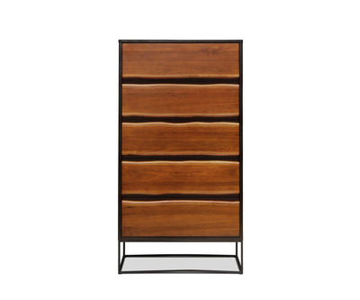 Hasse High Chest Timber Brown - Scandinavian Designs