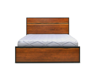 Hasse Bed Timber Brown / Queen - Scandinavian Designs
