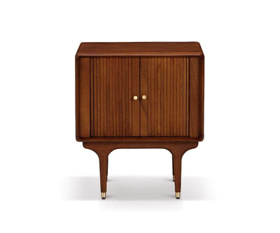 Hendrick Tambour Nightstand Timber Brown - Scandinavian Designs