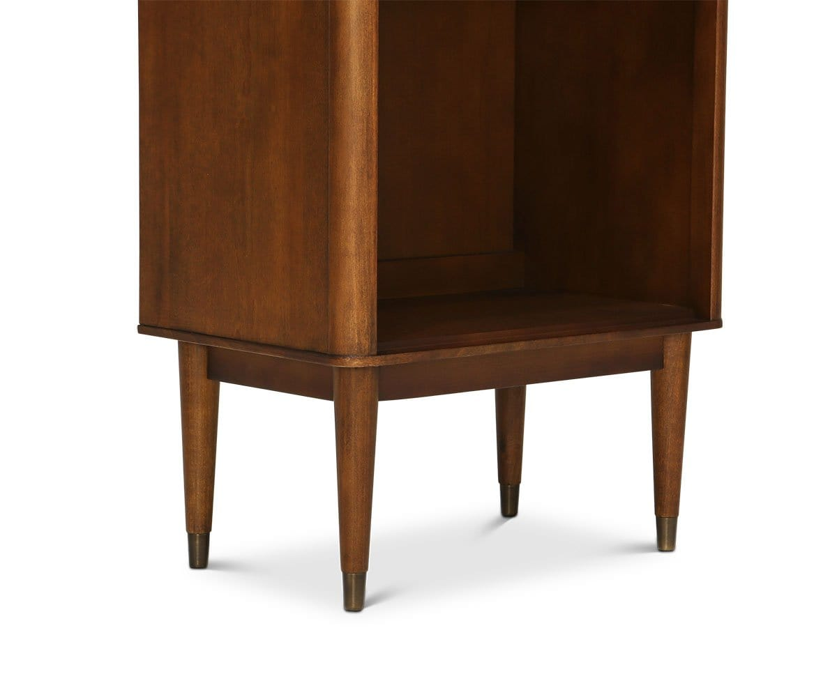 Holfred Narrow Bookcase Timber Brown - Scandinavian Designs