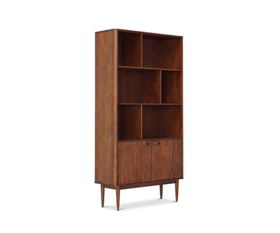 Holfred Wide Bookcase Timber Brown - Scandinavian Designs