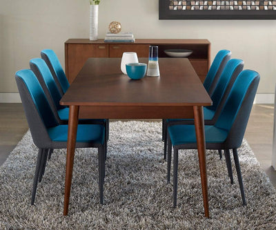 Holfred Extension Dining Table TIMBER BROWN - Scandinavian Designs