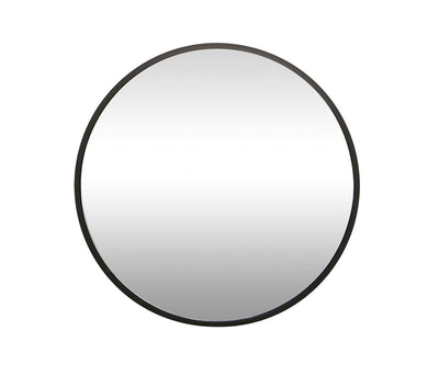 "Janelle 48"" Round Mirror Black - Scandinavian Designs"