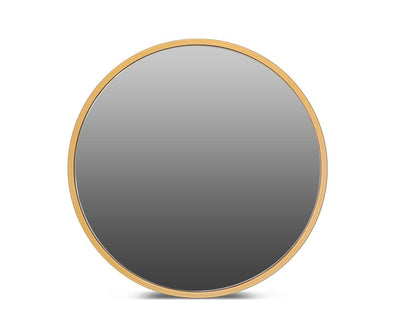 "Janelle 48"" Round Mirror Brass - Scandinavian Designs"
