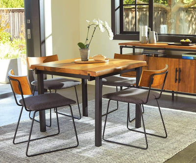 Karsten Square Dining Table Saddle Brown - Scandinavian Designs